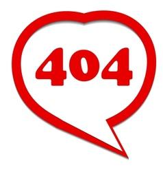 Red 404 error vector image