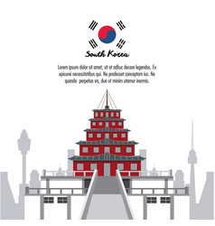 South korea infographic vector