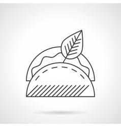 Taco line icon flat thin line icon vector image