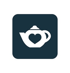 teapot icon Rounded squares button vector image