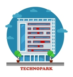 Technopark building in technocity for IT firm vector image vector image