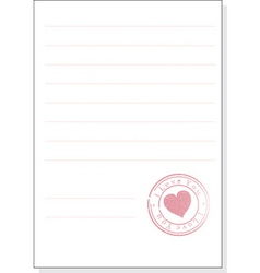 the form with a stamp vector image vector image