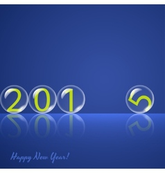 Transparent rolling glass balls on blue background vector