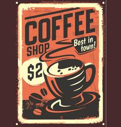 Vintage coffee house design vector