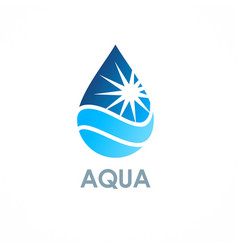 water drop fresh logo vector image
