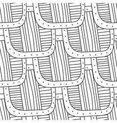 Black and white decorative seamless pattern for vector