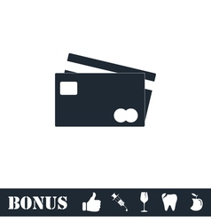 Credit cards payment icon flat vector