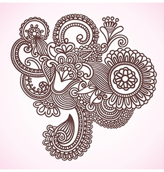 Flower Doodle Design Element vector image