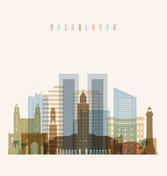 Casablanca skyline detailed silhouette vector