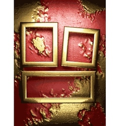Gold on red background vector