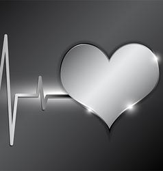 cardiography background metallic style vector image