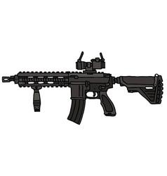 Automatic gun vector