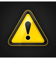 hazard warning attention sign on a metal surface vector image