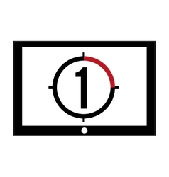 Film leader countdown icon vector