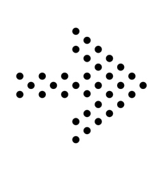 Small dots right arrow icon simple style vector image
