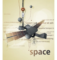 Abstract space station satellite vector