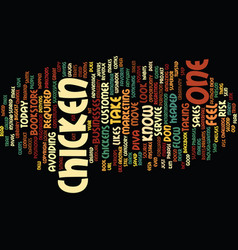 Are you a chicken text background word cloud vector
