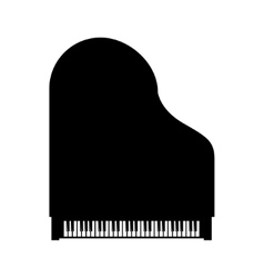 black grand piano top view vector image vector image