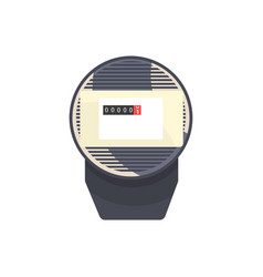 black typical analog electric meter household vector image
