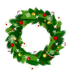 Christmas wreath for your design vector image vector image