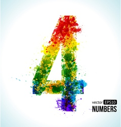 Color paint splashes Gradient Number 4 vector image