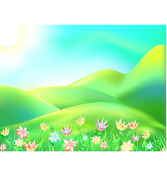 colorful nature cartoon vector image vector image