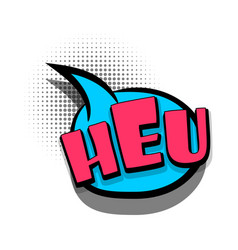 Comic book text bubble advertising heu vector