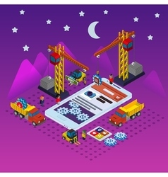 Flat app development vector