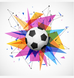 Football emblem template soccer ball with shapes vector