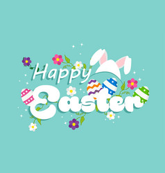 happy easter spring rabbit design for celebration vector image