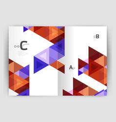 Modern triangle print template vector
