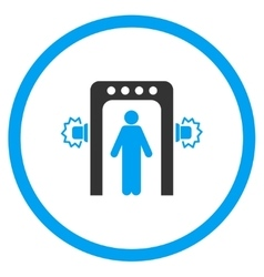 Passenger screening rounded icon vector