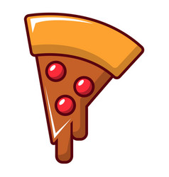 Pizza slice icon cartoon style vector