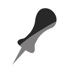 push pin thumbtack vector image
