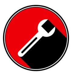 Red information icon - white spanner vector