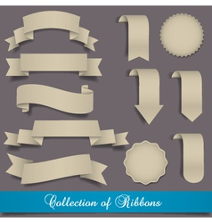 Retro ribbons and labels vector image vector image