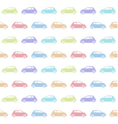 Seamless pattern of colorful vintage city car vector