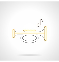 Sound horn flat line icon vector image vector image