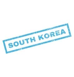 South korea rubber stamp vector