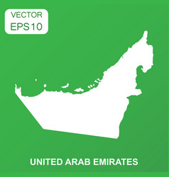 United arab emirates map icon business concept vector