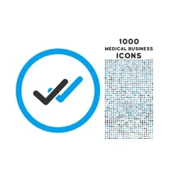 Validation Rounded Icon with 1000 Bonus Icons vector image vector image