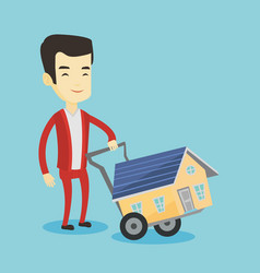 young man buying house vector image vector image