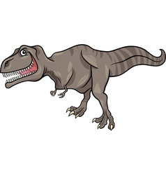 Cartoon of tyrannosaurus dinosaur vector