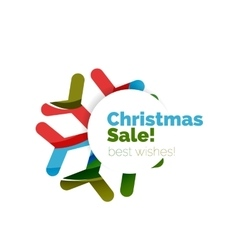 Christmas geometric abstract sale promo banner vector