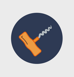 corkscrew sign icon vector image