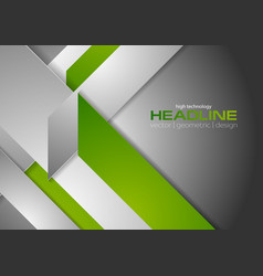 Bright tech corporate green grey background vector