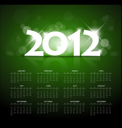 Green calendar for the new year 2012 vector