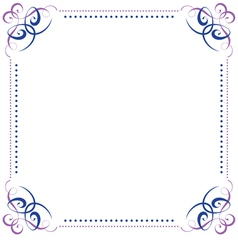 Multilayer violet blue elegant frame vector