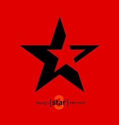 Abstract design element star vector