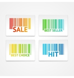 Barcode sale labels vector